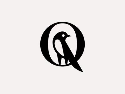Q laliashvili sandro monogram magpie bird typography letterform q