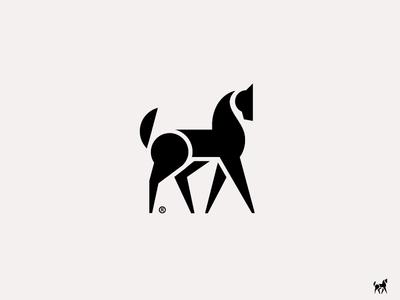 Arabian Horse laliashvili sandro unicorn symbol logo mark horse arabian