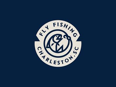 Fly Fishing badge charleston water hunting fish fishing fly flyfishing