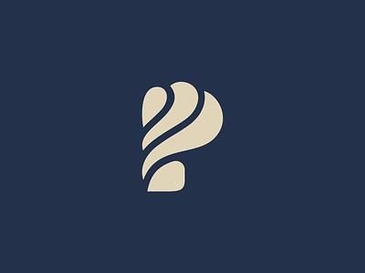 P Letterform letter letterform mark monogram p
