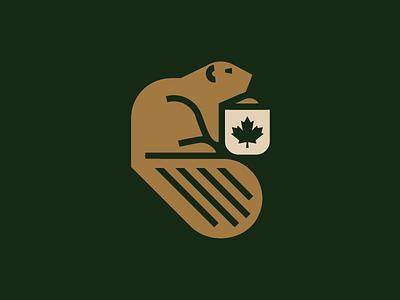Canadian Beaver wood badge coatofarms mapple leaf oak flag beaver canada canadian