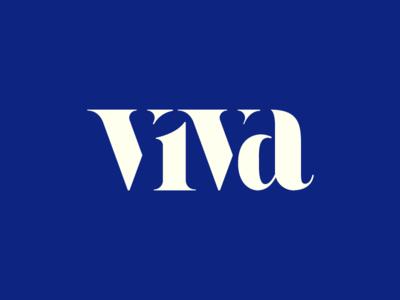 viva letter typography viva
