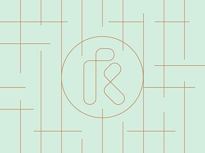 R fashion letter ambigram mark monogram r
