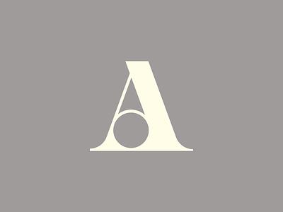 A letter letterform typography monogram serif a