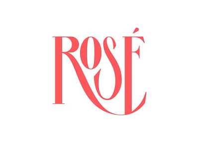 Rose letterform wordmark typography type rose