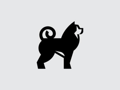 Akita animal strong brand symbol proud fluffy logo mark japan breed dog akita