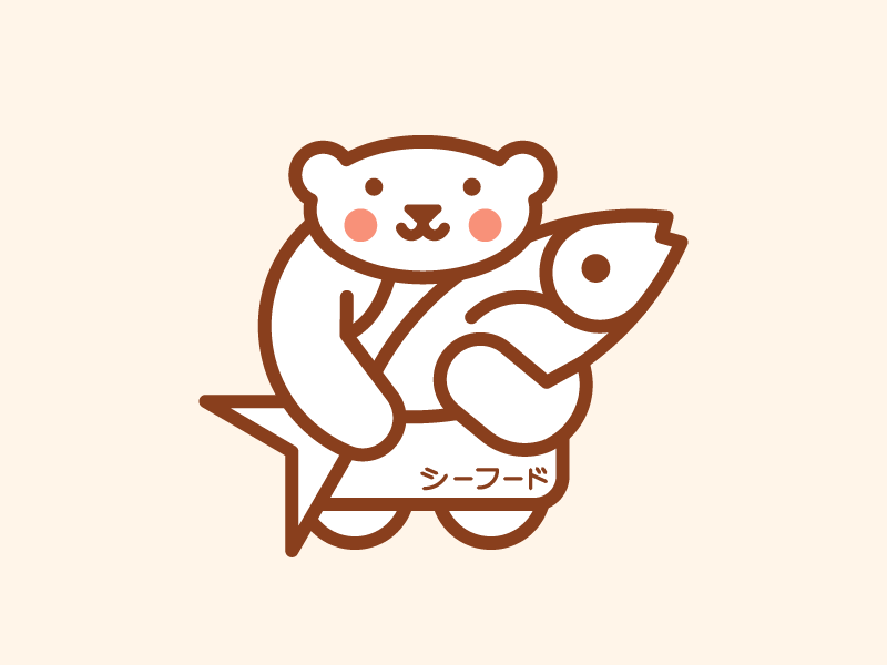 Bear Chef food seafood sea fish japanese japan restaurant bear chef