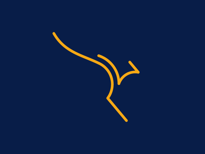 Kangaroo line simple mark australia kangaroo