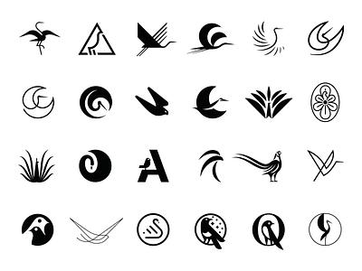 Bird Logos logo mark bird