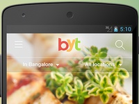 Book your table Mobile UI Design
