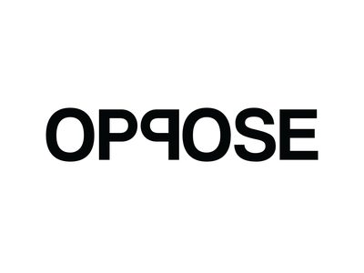 """Oppose"" Simplified type art minimalist minimal minimalist design design blackandwhite typography expressive typography"