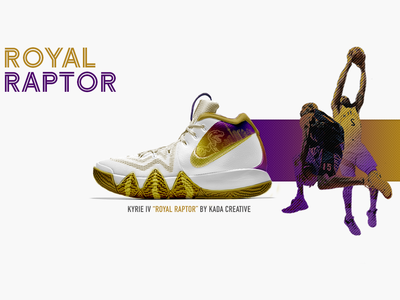 "Kyrie IV ""Royal Raptor"" design kyrie irving toronto sneaker head sneaker"