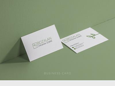 BOZALAN ORGANIC FERTILIZER / Business Card Design branding designer branding identity coporate organic minimal branding business card