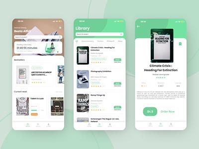Moco-o Mobile Book app minimal illustration flat book ux mobile design ui app