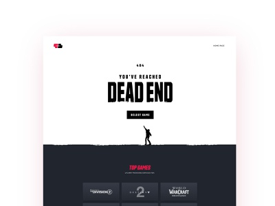 404 Dead End zombie madeontilda web design sum working process wip gaming 404 error page 404