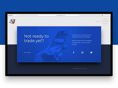 Social teaser for a landing page ui design tilda website builder madeontilda landing page desktop trading options social buttons interactive web  design