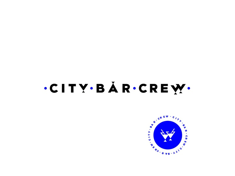 • City • Bar • Crew • work in progress wip stamp design events bar bartender branding logo lettering vector