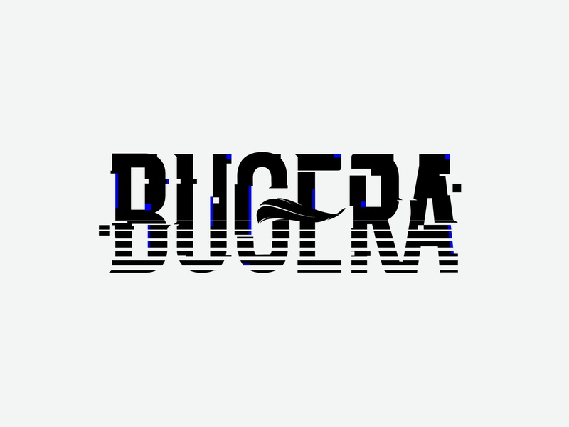 Bugera Band distorted glitch music logo female vocal rock band band logo lettering logo vector