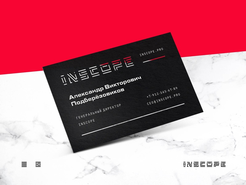 Inscope • Cut out business card borescope inscope cut out business card print design branding
