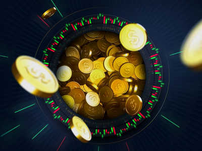 Image #1 with coins. The making of wip work in progress web illustration video working process options trading coins 3d graphics 3d illustration