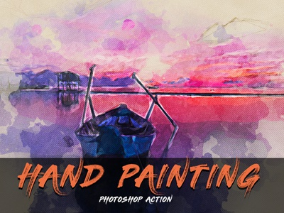 Hand Painting Photoshop Action hand drawn painting watercolor wall art color correction photo manipulation abstract art atn artistic actions action photoshop action artwork