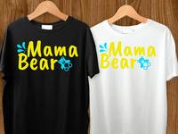 Mama bear Tshirt design.