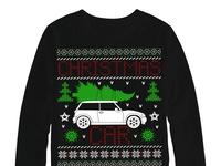 Christmas car sweater design