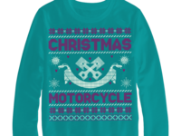 Christmas Motorcycle Sweater design