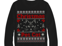 Ugly Christmas Pet cat sweater design
