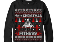 Merry Christmas fitness Sweater design