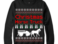 Christmas Horse Truck Sweater Design