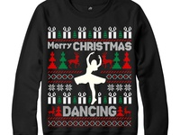 Ugly Christmas Sweater Dancing Design
