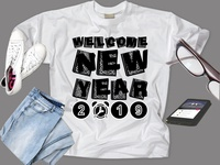 New year T shirt design