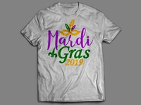 Mardi Gras T shirt design.
