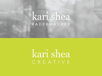 Personal Branding — Kari Shea Logo wordmark brand identity logo branding