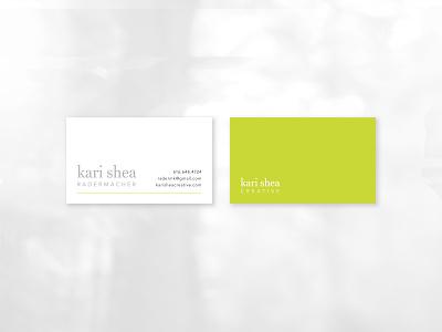 Personal Branding — Kari Shea Business Cards business cards logo branding