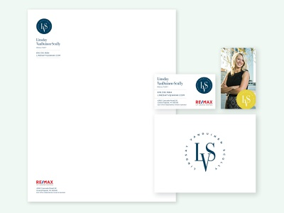 Lindsay VanDuinen-Scully Brand letterhead business cards monogram logo branding