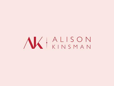 Alison Kinsman Logo monogram logo branding