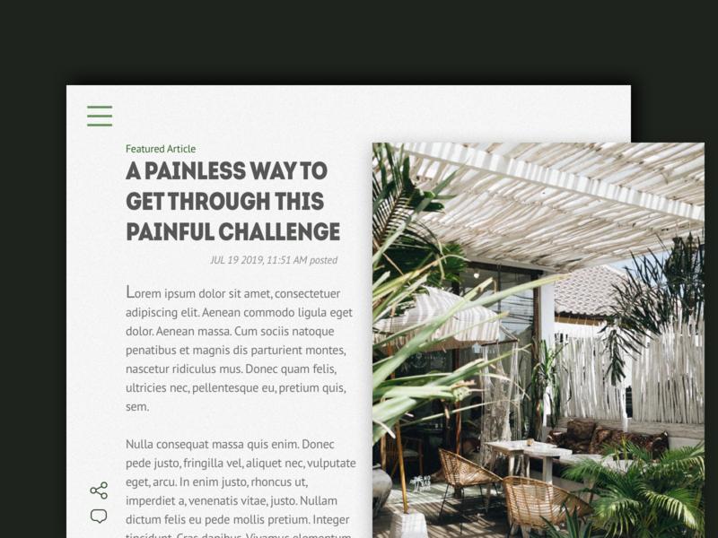 Daily UI 035: Blog Post