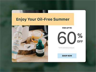 Daily UI 036: Special Offer ecommerce shop discount specialoffer forest orange green website design ui uidesign sketch dailyuichallenge dailyui