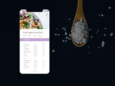 Daily UI 040: Recipe 040 dailyui040 recipe app recipe purple lavender app mobile design ui uidesign dailyuichallenge dailyui sketch