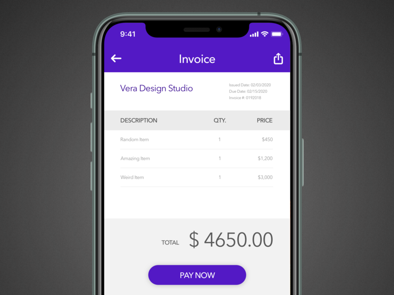 Daily UI 046: Invoice