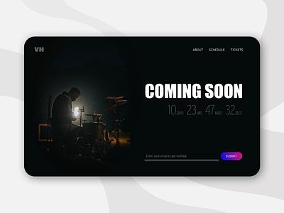 Daily UI 048: Coming Soon gray purple website uidesign ui dailyuichallenge dailyui design sketch coming soon page coming soon