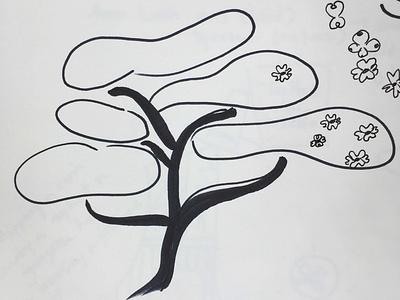 Dogwood handdrawn prismacolor promnightfistfight spring flower tree illustration
