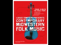 Contemporary Midwestern Folk Music Poster