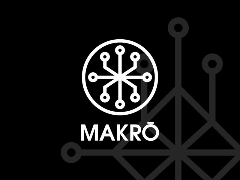 MAKRŌ - Logo Concept type identity minimal design concept brand agency creative concept clean logo design icon flat vector design idenity logo branding brand identity