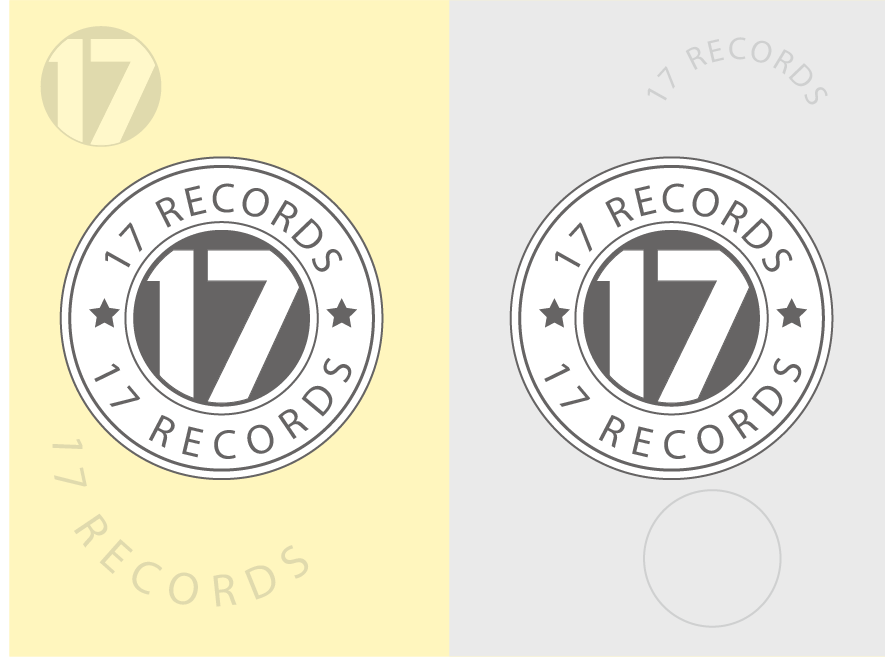 17 RECORDS design minimal vector logo idenity icon flat design concept minimalist logo logo design typography illustration creative colorful logo clean branding brand agency brand identity app abstract logo