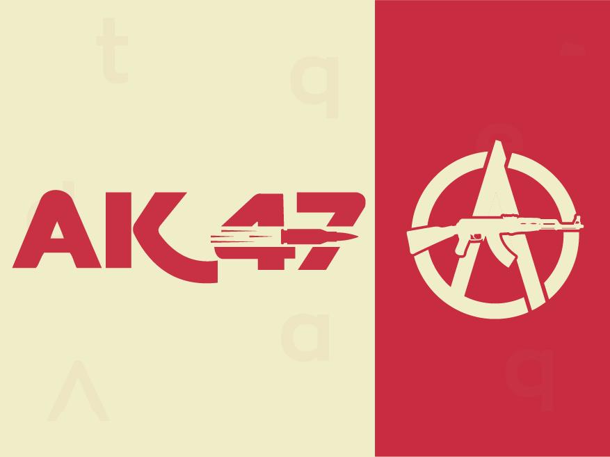Ak47 minimalist logo web clean colorful logo abstract logo icon illustration concept identity minimal design concept brand agency design creative logo design vector idenity branding logo brand identity