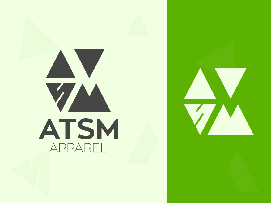 ATSM Apparel fashion brand fashion colorful logo app web abstract logo illustration concept identity minimal design concept brand agency design creative clean vector logo design branding logo brand identity