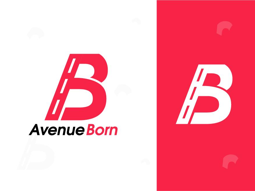 Avenue Born web type lettering colorful logo abstract logo flat clean identity app design illustration concept minimal design concept brand agency creative logo design branding logo brand identity